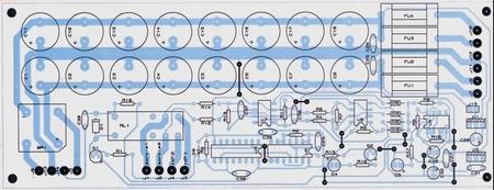 Блок питания и защиты АС (расположение деталей)