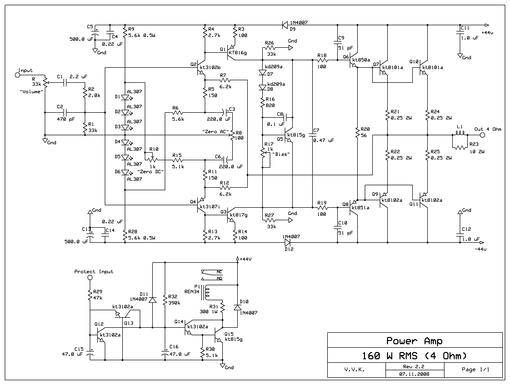 Схема усилителя мощности В.Короля
