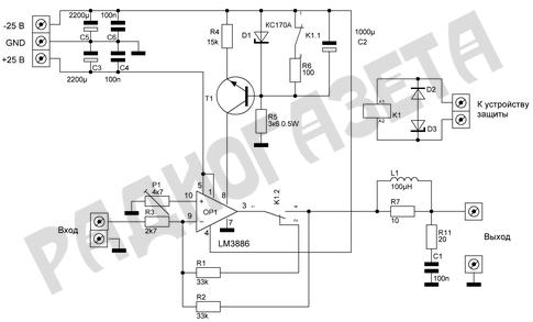 усилитель на LM3886
