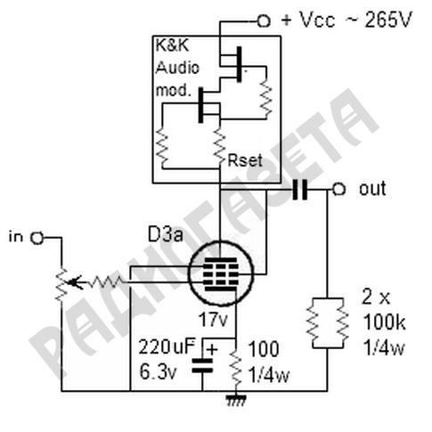 Ламповый усилитель с полевыми транзисторами