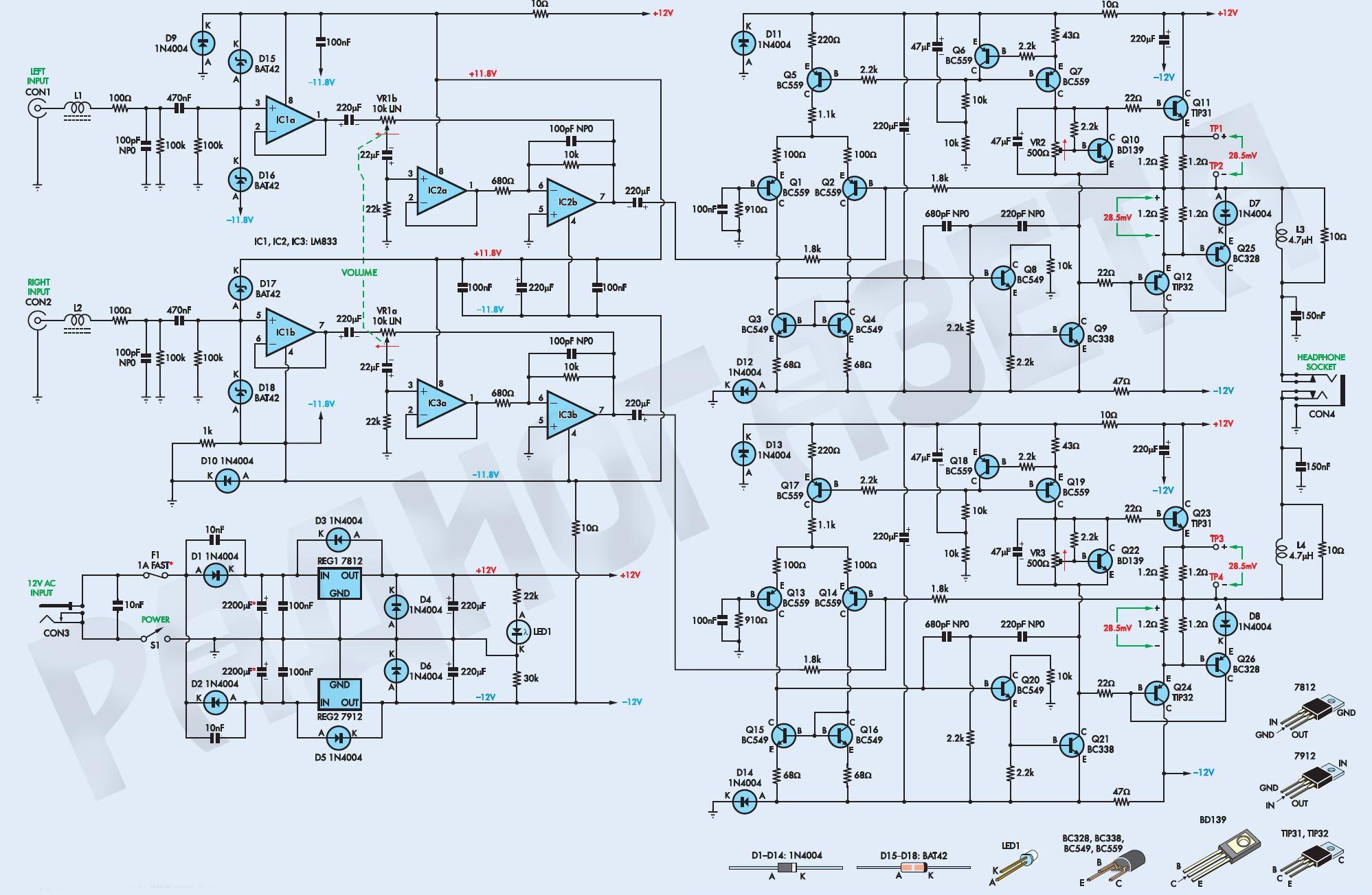 Схема лампового усилителя hi end.