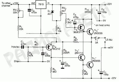 """Транзисторный усилитель мощности звука класса """"А"""" с ламповым звучанием"""