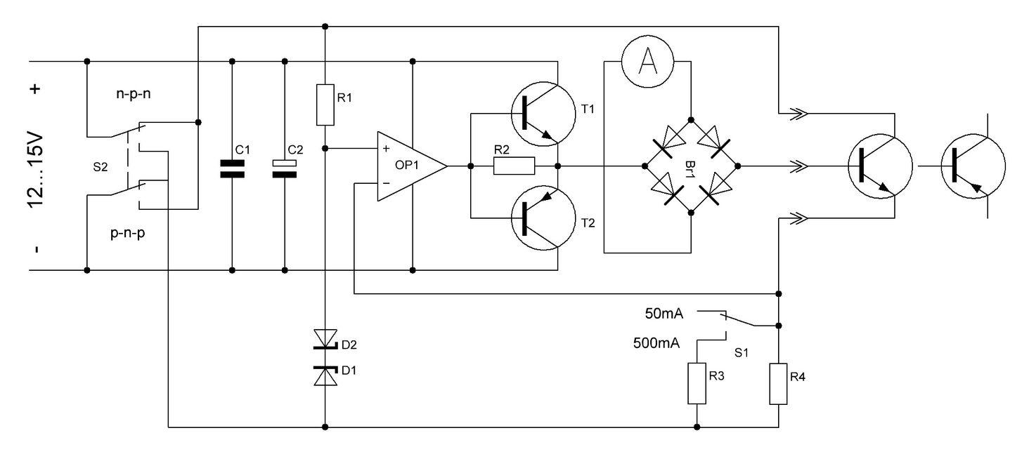 Схемы проверки транзисторов