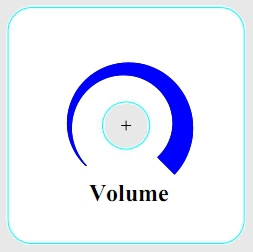 Шкала регулятора громкости