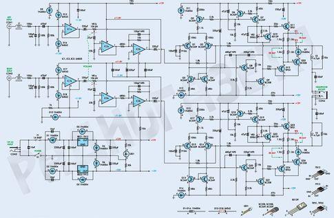 Схема усилителя для наушников