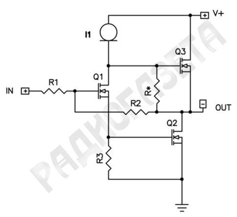 Усилитель мощности JLH на полевых транзисторах